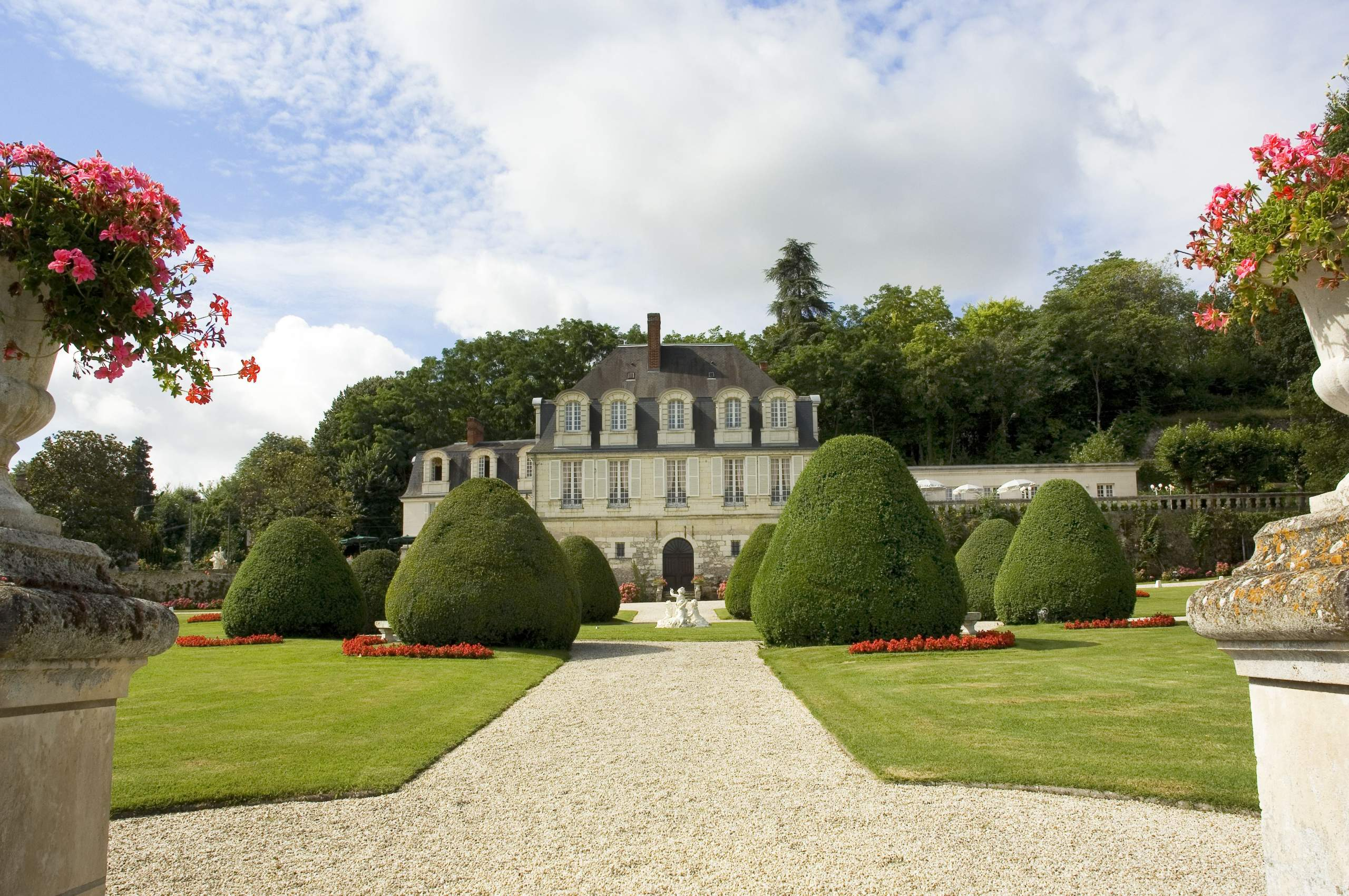 Outside of the château
